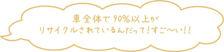 90%リサイクル